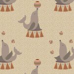Circus FF293/3 Sea Lions by Fabric Freedom