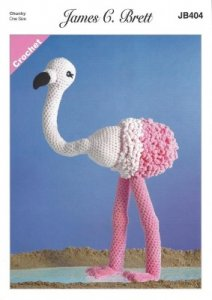 James C. Brett Crochet Flo the Flamingo Chunky JB404