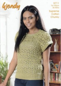 Wendy Supreme Cotton Chunky - Lacy Top 5711