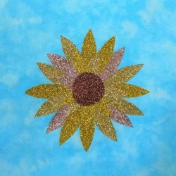 Mug Rug Kit - Sunflower with Glitter Film
