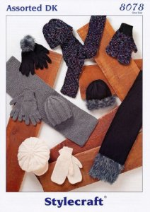 Stylecraft DK - Scarves, Hats, Gloves and Mittens 8078