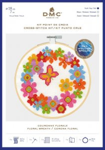 DMC Cross Stitch Floral Wreath BK1850