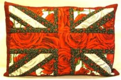 Red Rose Flag Cushion Pattern