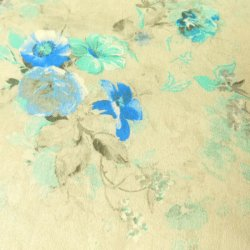 Fabric Freedom Kavita 32154 Blue/Green Floral