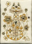 Goldwork Elegant Cat Kit - Kathleen Laurel Sage