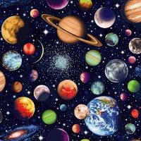Solar System Fabric by Nutex