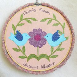 Gardening Forever, Housework Whenever Mandala Kit designed by Jon Massey