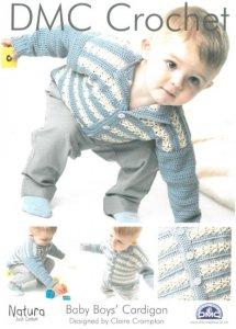DMC Crochet - Baby Boys' Cardigan 14932L/2