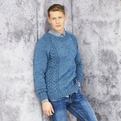 Stylecraft Special Aran - Men's Jumper Pattern 9658