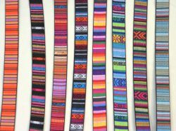 Faux Leather Belting, woven braid in bright colours, trim, strap, belt, dog lead etc.