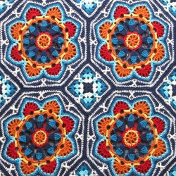 Persian Tiles Crochet Blanket Pattern by Janie Crow
