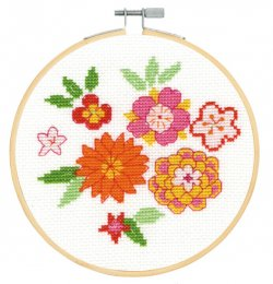DMC Cross Stitch Japanese Flowers BK1913