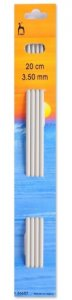 Pony 4 x 3.50mm x 20cm Knitting Needles 36607