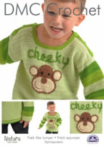 DMC Crochet - Boy's Cheeky Monkey Jumper 15209L/2