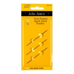 John James Twin Pointed Quick Stitch Size 24 Needles