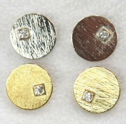 Dill Silver or Gold 23mm Buttons with large single Diamante