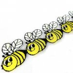 Bumble Bee Sew-On Applique Trim 35mm