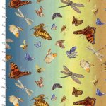 Spirit of Flight Cotton Fabric - 16483 Butterflies