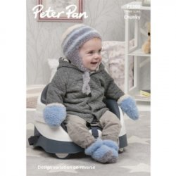 Peter Pan Precious Chunky - Hat, Mitts and Boots P1300