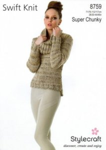 Stylecraft Swift Knit Super Chunky - Sweater and Snood 8759
