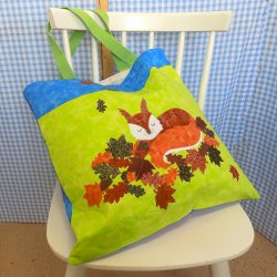 Harvest Squirrel Cushion & Bag Kit Designed by Purple Boots
