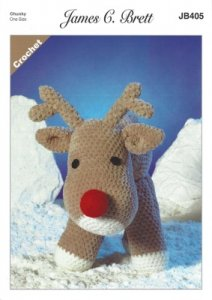 James C. Brett Crochet Rudolf the Reindeer Chunky JB405