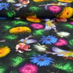 "QjuTieKids Digital Jersey Dressmaking Fabric ""Dawn Flow"""