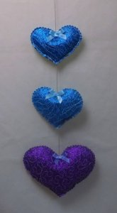 Glitter Film The Hanging Hearts Template - Free Pattern