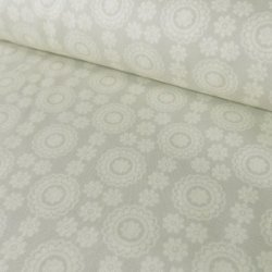 Fabric Freedom Floral Paste Print FF9764/3 Grey