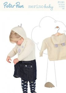 Peter Pan Merino Baby 1181 - Hooded Sweaters