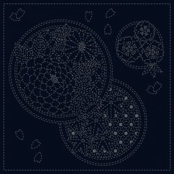 Sashiko Indigo Cotton Cloth - Seasons