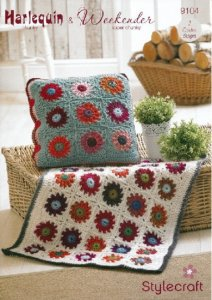 Stylecraft Harlequin Chunky & Weekender Super Chunky - Throw & Cushion Cover 9104