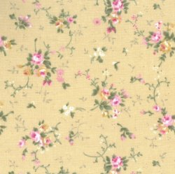 Small Floral FF3/4 Beige from Fabric Freedom
