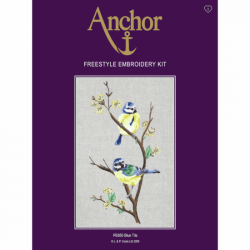 Anchor Blue Tits Freestyle Embroidery Kit