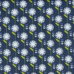 Retro Flowers FF136/3 Flowers on a Diagonal by Fabric Freedom