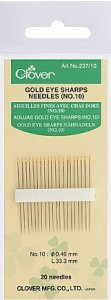Clover Gold Eye Sharps No 10 CL237/10