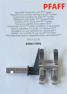 Genuine Pfaff Adjustable Guide Foot for IDT 829677-096
