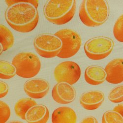 Cotton Canvas Oranges CV8086 Cream