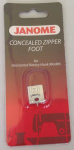 Janome Zipper Foot Concealed