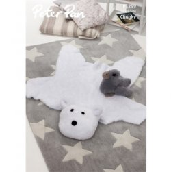 Peter Pan Precious Chunky - Polar Bear Rug and Duckling P1299