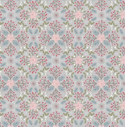 Winter in Bluebell Wood AC45.2 Winter Floral Grey by Lewis and Irene