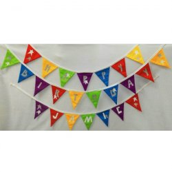Birthday Bunting Designed by Purple Boots Personalise with your name