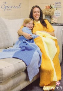 Stylecraft Special Chunky Princess Blankets Pattern 9490