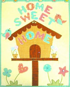 Home Sweet Home Wall Hanging Pattern