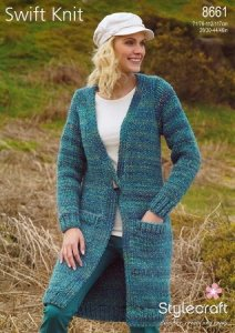 Stylecraft Swift Knit - Woman's Sweater 8661