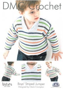 DMC Crochet - Boys' Striped Jumper 14930L/2