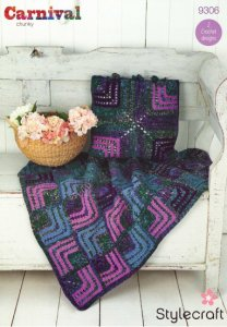 Mitred Square Throw and Cushion Crochet Pattern 9306