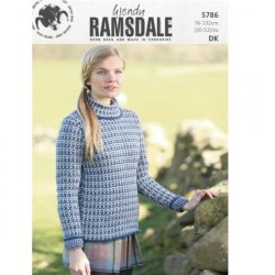 Wendy Ramsdale DK Sweater and Hat Pattern- 5786