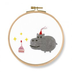 DMC Birthday! Hippo TB127 Embroidery Kit