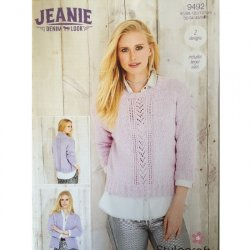 Stylecraft Jeanie Denim Look - Sweater and Jacket Pattern 9492